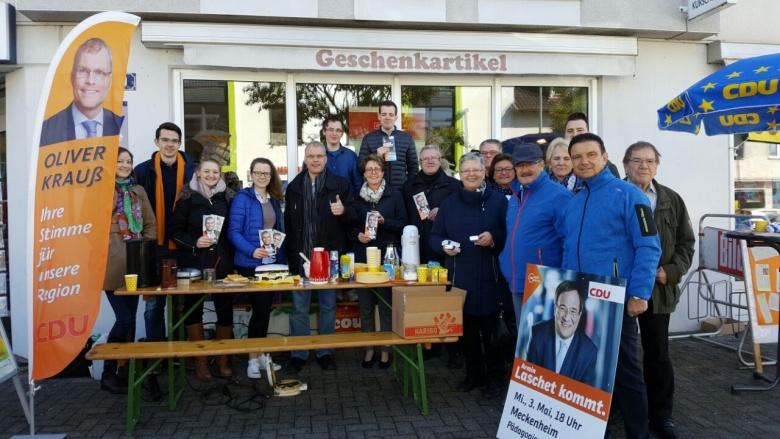 Tolle Werbeaktion der CDU Swisttal mit der Jungen Union Swisttal