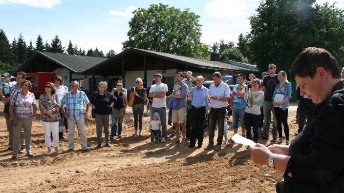 Baubeginn am alten Sportplatz in Buschhoven