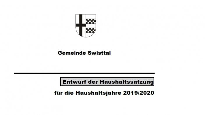 Haushaltsentwurf 2019 / 2020