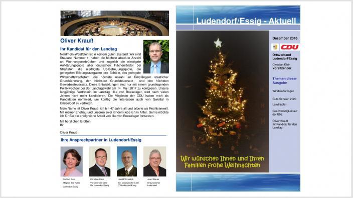 15.12.2016 - Ludendorf/Essig-Aktuell