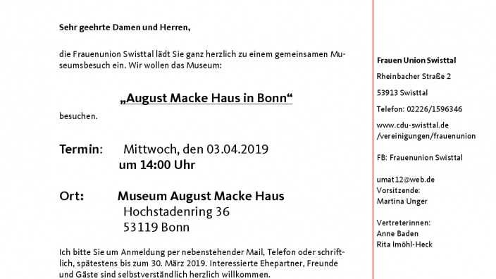 Museumsbesuch August Macke Haus
